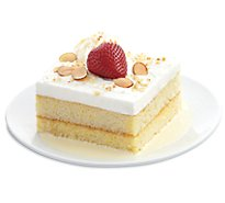 Bakery Cake Slice Tres Leches - Each (650 Cal)