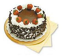 Bakery Cake 8 Inch 2 Layer Chocolate Straw Whip Cream - Each