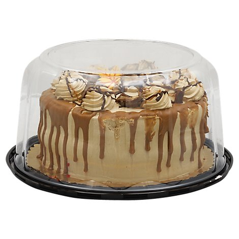 Bakery Cake 8 Inch 2 Layer Snickers - Each