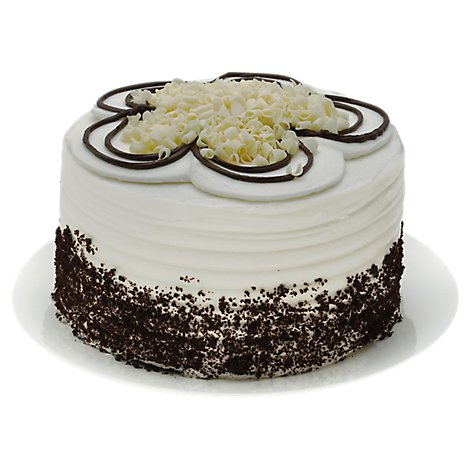Bakery Cake Dinner 8 Inch Chocolate With White Buttercream - Each