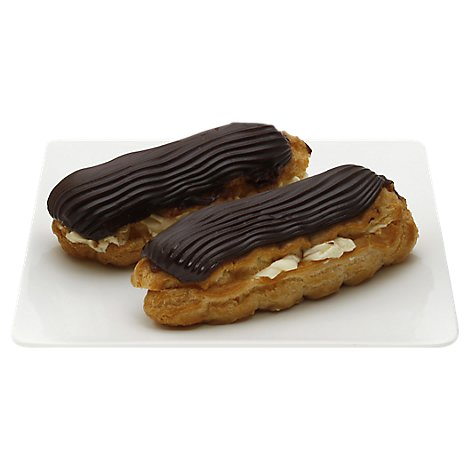 Fresh Baked Custard Filled Eclair - 2 Count
