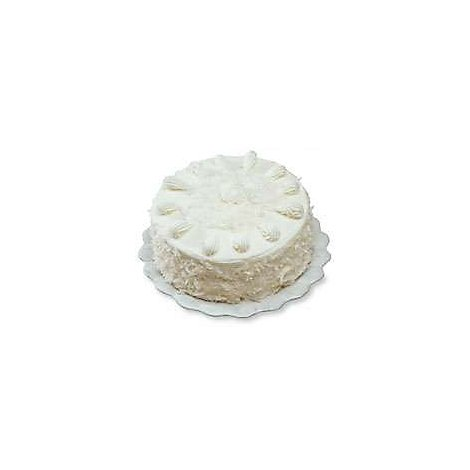 Bakery Cake White 8 Inch 1 Layer Coconut - Each