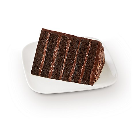 Fresh Baked Slice Artisan Chocolate Colossal Cake - Each (880 Cal)