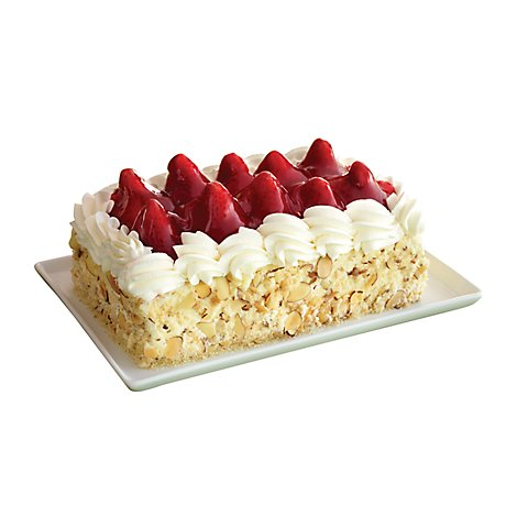 Bakery Cake Bar 1/8 Sheet With Strawberry - Each