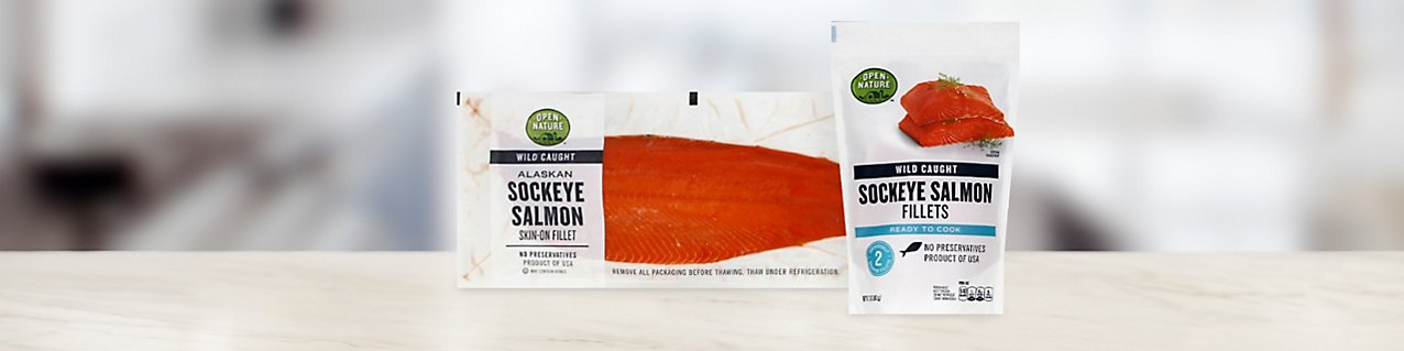 Participating products, Open Nature sockeye salmon skin-on fillet, Open Nature Wild Caught Salmon Sockeye Fillet