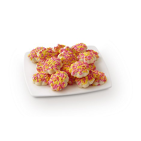 Fresh Baked Butter Cookies With Sprinkles - 24 Count