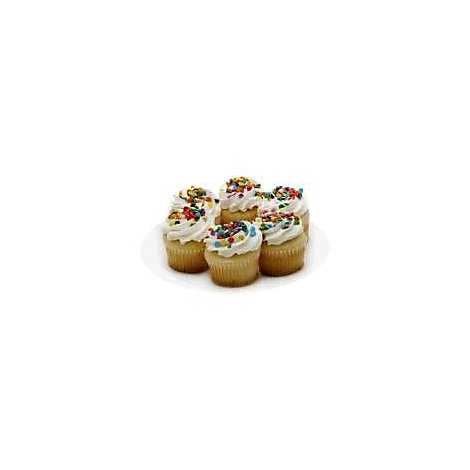Bakery Cupcake White White Iced 6 Count - Each