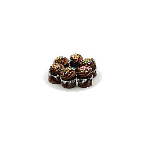 Bakery Cupcake Chocolate Chocolate Iced 6 Count - Each