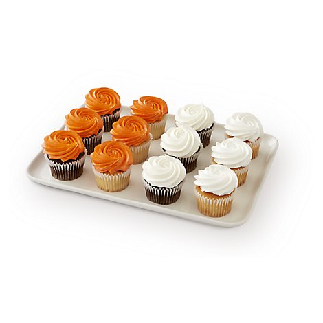 Bakery Cupcake 6 White 6 Chocolate 12 Count - Each