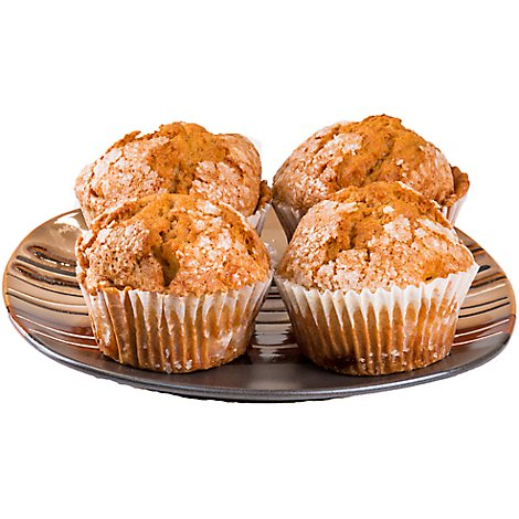Bakery Muffins Pumpkin Walnut 4 Count - Each