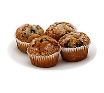 Bakery Muffins Blueberry/Banana Nut 4 Count - Each