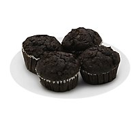 Fresh Baked Double Chocolate Muffins 4 Count