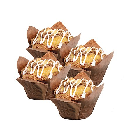 Bakery Muffins Peach 4 Count - Each