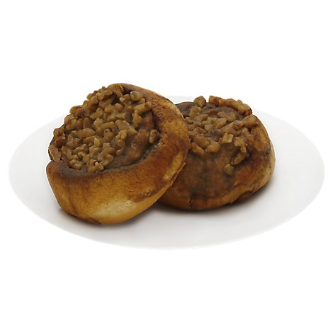 Bakery Buns Sticky Gourmet Caramel Nut 2 Count - Each