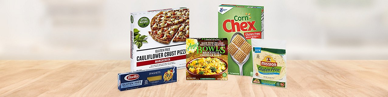 Participating products, Mission Tortillas Gluten Free Soft Taco, Open Nature Cauliflower Crust Margherita Pizza Gluten, Chex