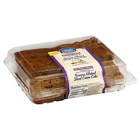 Hill & Valley Cake Creme Slice Sugar Free Ban Walnut - Each