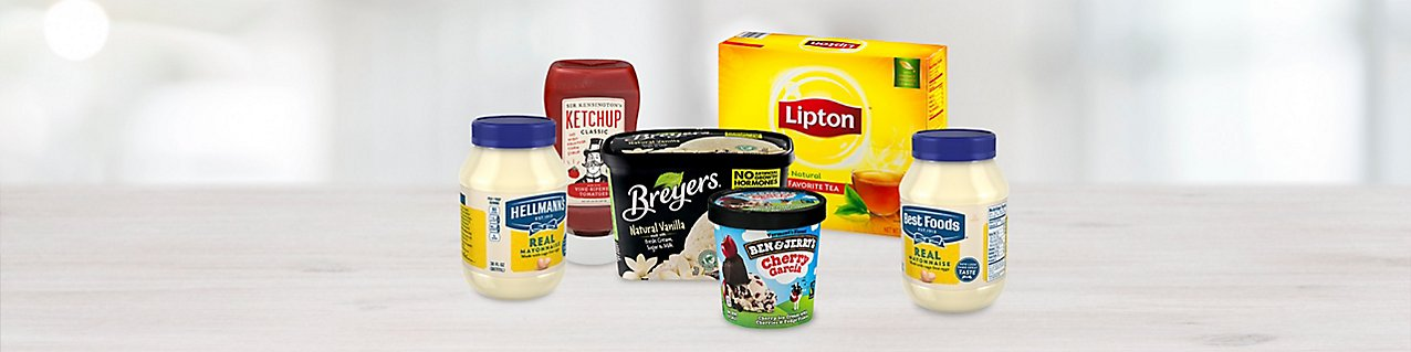 Participating products, Best Foods Mayonnaise, Breyers Vanilla Ice Cream, Hellmann's Mayonnaise, Lipton Tea Bags, Sir Kensing