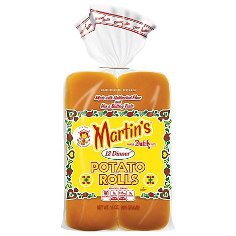 Martins Rolls Potato Dinner 12 Count - 15 Oz
