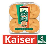 Anzio & Sons Rolls Kaiser Enriched 8 Count - 16 Oz