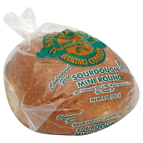 Sacramento Baking Bread Sourdough Mini Round - 8 Oz