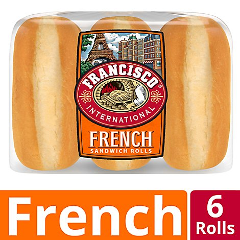 Francisco International French Sandwich Rolls 6 Count - 18.5 Oz
