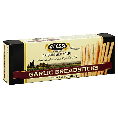 ALESSI Breadsticks Garlic - 4.4 Oz