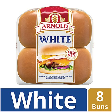 Arnold Hamburger Rolls Country White 8 Count - 16 Oz