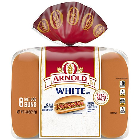 Arnold Hot Dog Buns Classic 8 Count - 14 Oz