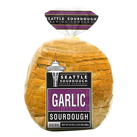 Seattle Sourdough Baking Co Bread Garlic Round - 24 Oz