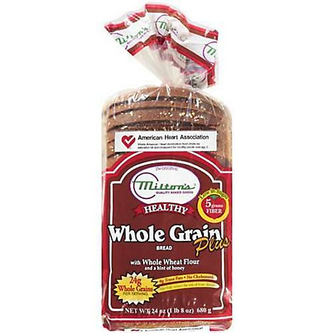 Miltons Healthy Whole Grain With Honey Bread - 24 Oz