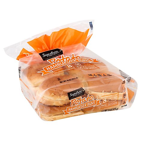 Signature SELECT Buns Hamburger Potato - 8 Count
