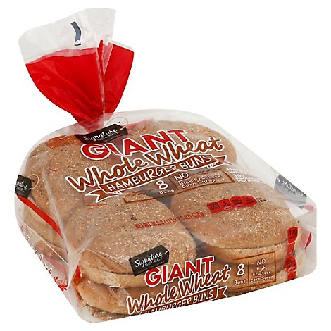 Signature SELECT Buns Hamburger Wheat Giant - 18.5 Oz