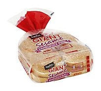 Signature SELECT Buns Hambuger Enriched Sesame Giant 8 Count - 18.5 Oz