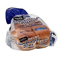 Signature SELECT Buns Hamburger Enriched 8 Count - 12 Oz