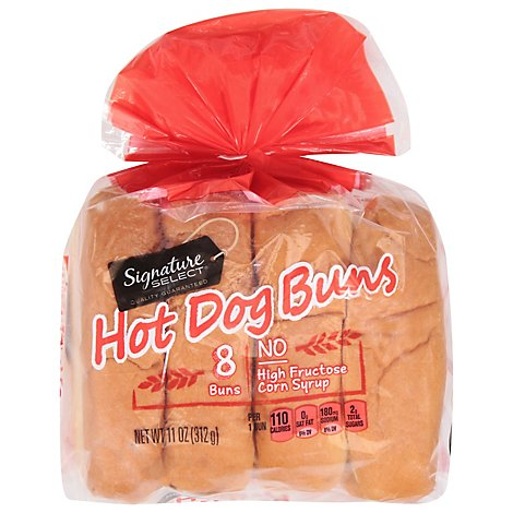 Signature SELECT Buns Hot Dog Enriched - 11 Oz