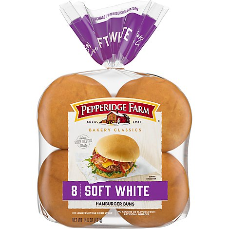 Pepperidge Farm Bakery Classics Buns Hamburger Soft White - 8 Count