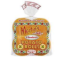 Martins Rolls Potato Sandwich 8 Count - 15 Oz