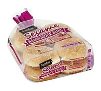 Signature SELECT Buns Hamburger Enriched Sesame 8 Count - 12 Oz