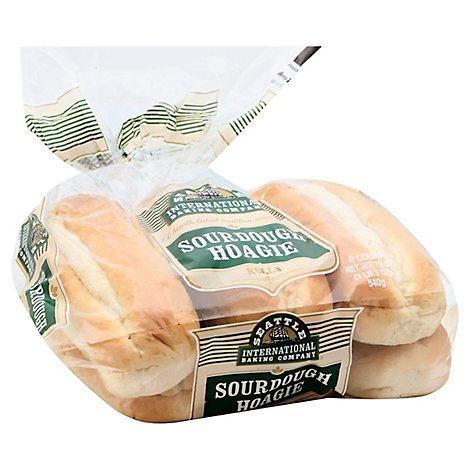 Seattle International Baking Company Sandwich Rolls Sourdough - 19 Oz