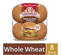 Oroweat Sandwich Buns Whole Grain 100% Whole Wheat - 16 Oz