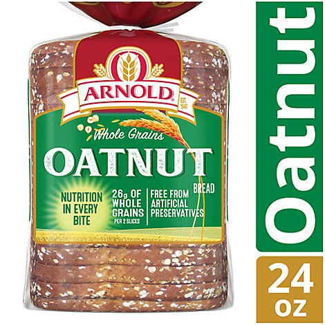 Arnold Bread Whole Grains Oatnut - 24 Oz