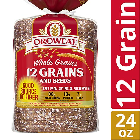 Oroweat Bread Whole Grains 12 Grain - 24 Oz