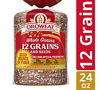Oroweat Whole Grains Bread 12 Grain - 24 Oz