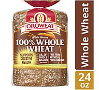 Oroweat Bread 100% Whole Wheat Grains - 24 Oz