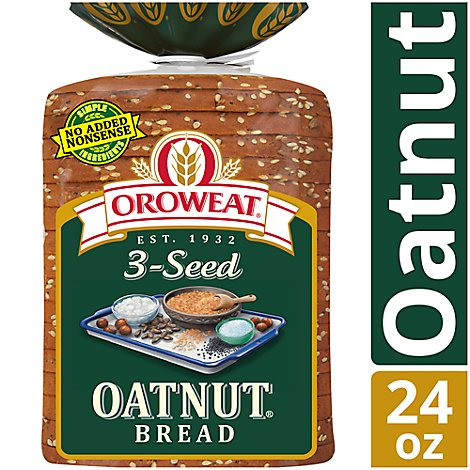 Oroweat Bread Whole Grains 3 Seed Oatnut - 24 Oz