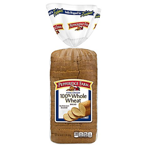 Pepperidge Farm Bread Stone Ground Whole Wheat - 16 Oz