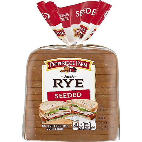 Pepperidge Farm Bread Jewish Rye Seeded - 16 Oz