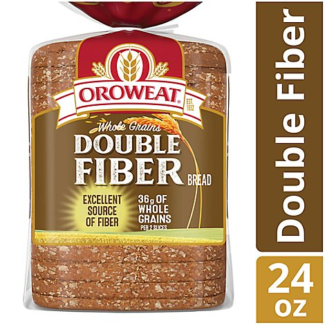 Oroweat Bread Whole Grains Double Fiber - 24 Oz