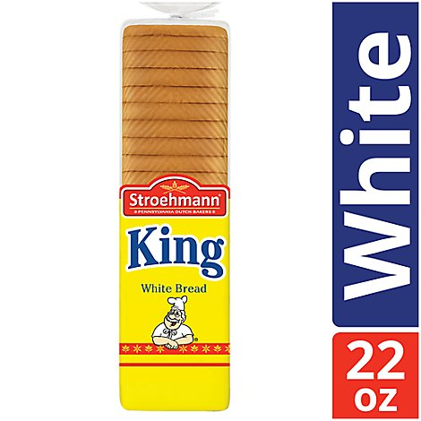 Stroehmann King Sandwich Bread - 22 Oz