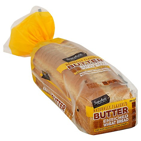 Signature SELECT Bread Butter Top Wheat - 22 Oz
